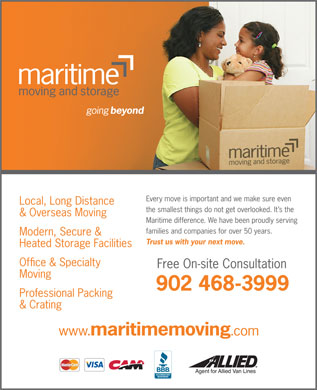 Maritime Moving & Storage (902-468-3999) - Display Ad - 902 468-3999