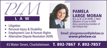 PLM Law (902-892-7867) - Display Ad