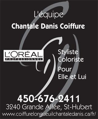 Chantale Danis Coiffure (450-676-2411) - Annonce illustru00e9e - Lu0026#39;u00e9quipe Chantale Danis Coiffure ...