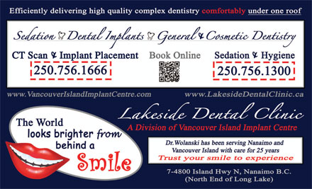 Vancouver Island Implant Centre (250-756-8498) - Display Ad