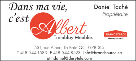 Meubles albert tremblay la baie for Albert tremblay meuble la baie