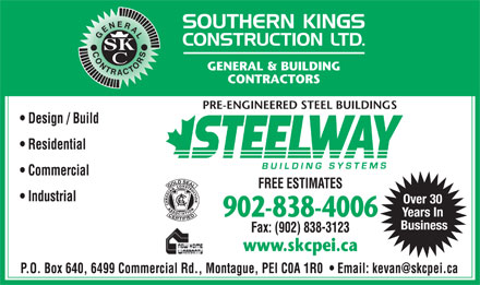 Southern Kings Construction Ltd (902-838-4006) - Annonce illustrée - Over 30 Over 30 Years In 902-838-4006 Business Years In 902-838-4006 Business