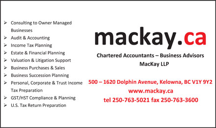 MacKay LLP (250-980-0819) - Display Ad