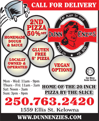 Dunnenzies Pizza (250-763-2420) - Display Ad