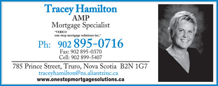 Tracey Hamilton (902-895-0716) - Annonce illustr&eacute;e - VERICO one stop mortgage solutions inc. www.onestopmortgagesolutions.ca