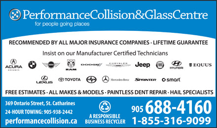 Performance Collision & Restyling (905-688-4160) - Display Ad