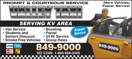 Valley Taxi (506-849-9000) - Display Ad
