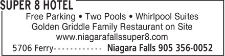 Super 8 Hotel (905-356-0052) - Display Ad