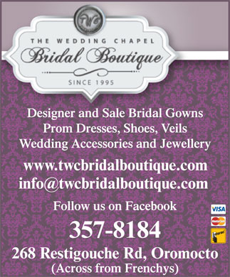 Wedding Chapel The (506-357-8184) - Display Ad