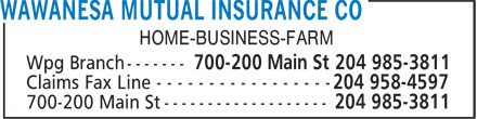 Wawanesa Mutual Insurance Co (204-985-3811) - Annonce illustrée - HOME-BUSINESS-FARM