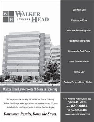 Walker Head Lawyers (905-839-4484) - Annonce illustrée