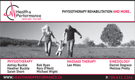 Health & Performance Centre Inc (709-632-2266) - Display Ad