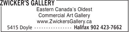 Zwicker's Gallery (902-423-7662) - Annonce illustrée - Eastern Canada's Oldest Commercial Art Gallery www.ZwickersGallery.ca