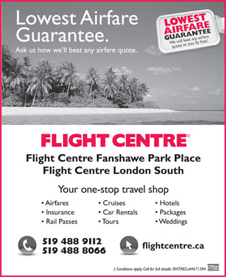 Flight Centre (519-488-9112) - Display Ad