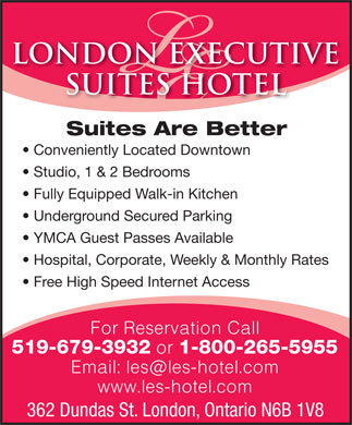 London Executive Suites (519-679-3932) - Annonce illustrée