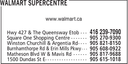 Walmart (416-239-7090) - Display Ad - www.walmart.ca