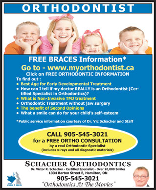 Schacher Victor Dr (905-545-3021) - Display Ad