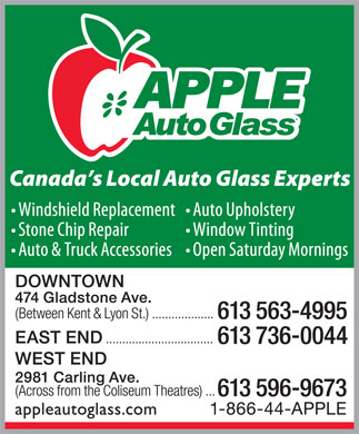 Apple Auto Glass (613-596-9673) - Annonce illustrée