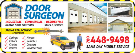 Door Surgeon (780-448-9498) - Display Ad