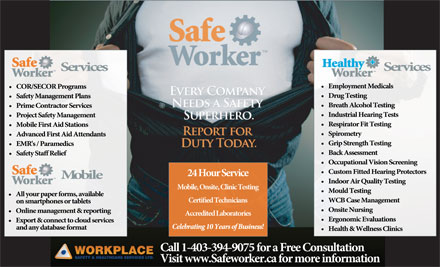 Workplace Safety & Healthcare (403-359-5798) - Annonce illustrée