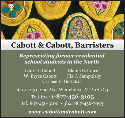 Cabott & Cabott Barristers (867-456-3100) - Display Ad