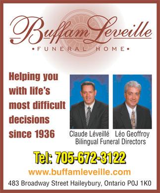 Buffam Funeral Home In Haileybury