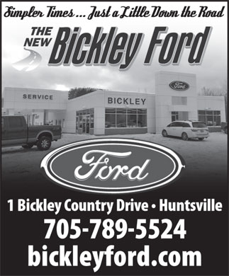 Bickley Ford Sales Ltd (705-789-5524) - Display Ad