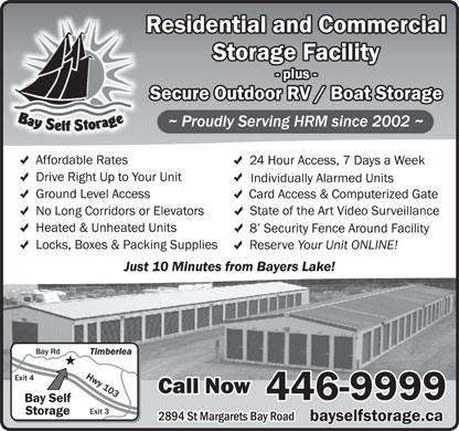 Bay Self Storage (902-405-8219) - Display Ad