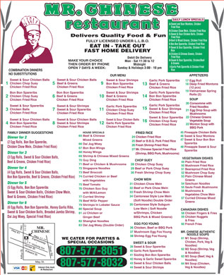 Mr Chinese (807-577-8051) - Menu