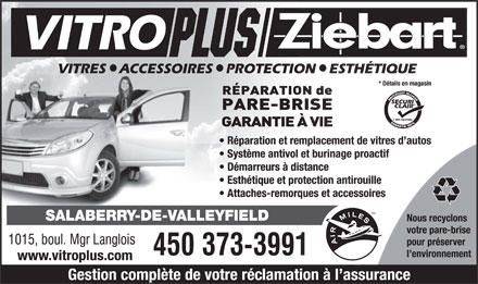 Vitroplus/Ziebart (450-373-3991) - Display Ad