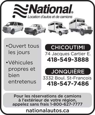 National Location d'Autos et de Camions (418-549-3888) - Display Ad