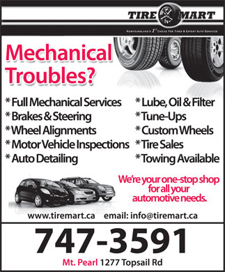 Tire Mart (709-700-0999) - Display Ad