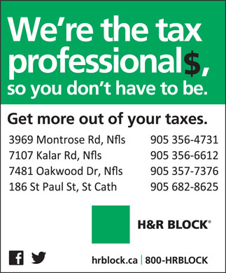 H&R Block (905-356-4731) - Display Ad