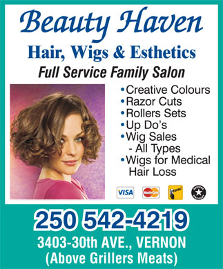 Beauty Haven (250-542-4219) - Annonce illustrée - (Above Grillers Meats)