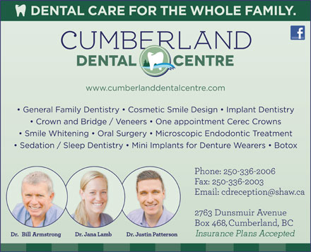 Cumberland Dental Centre (250-336-2006) - Display Ad