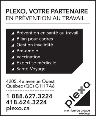 Mesisys Corporate Health LP (418-624-3224) - Annonce illustrée