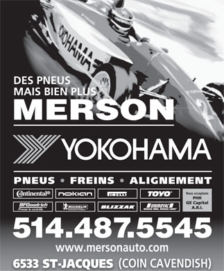Merson (438-896-2929) - Display Ad - www.mersonauto.com (COIN CAVENDISH) 6533 ST-JACQUES