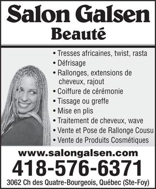 Salon galsen beaut 3062 ch des quatre bourgeois qu bec qc - Salon de coiffure place ste foy ...