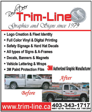 Trim-Line Of Central Alberta Ltd (403-343-1717) - Annonce illustrée