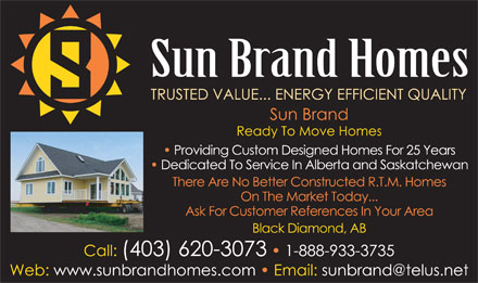 Sun Brand Corporation (1-888-933-3735) - Display Ad