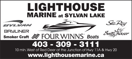 Lighthouse Boat Sales Inc (403-309-3111) - Annonce illustrée - 403 - 309 - 3111 www.lighthousemarine.ca Boats