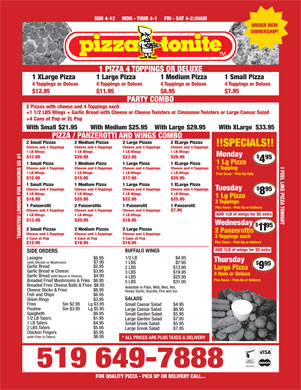 Pizza Tonite (226-213-3642) - Display Ad