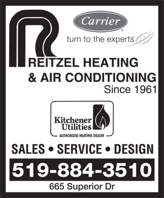 Reitzel Heating & Air Conditioning (519-884-3510) - Display Ad - 665 Superior Dr 519-884-3510