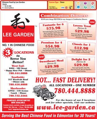 Edmonton Chinese Food Delivery West End