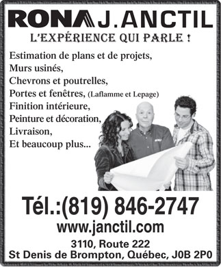Anctil j inc 819 200 2947 display ad estimation de for Fenetre laflamme